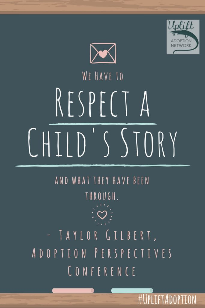 Respect a child's story.