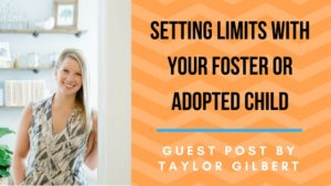 Setting Limits with your Foster or Adopted Child